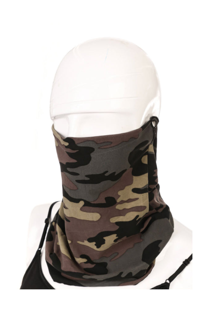 Camo Scarf Style Mask