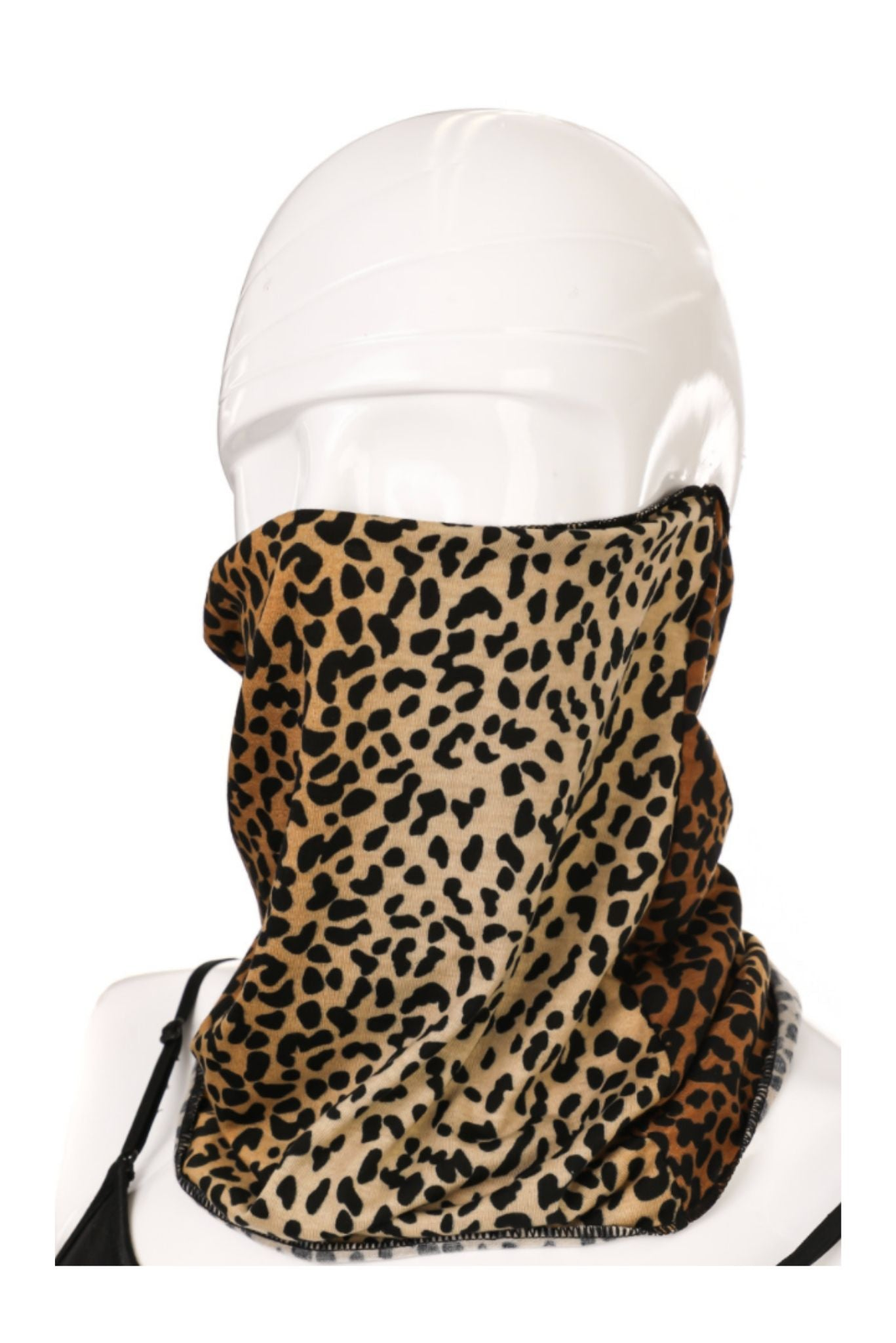 Animal Print Scarf Style Mask