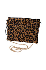 Animal Print Quilted Crossbody Bag
