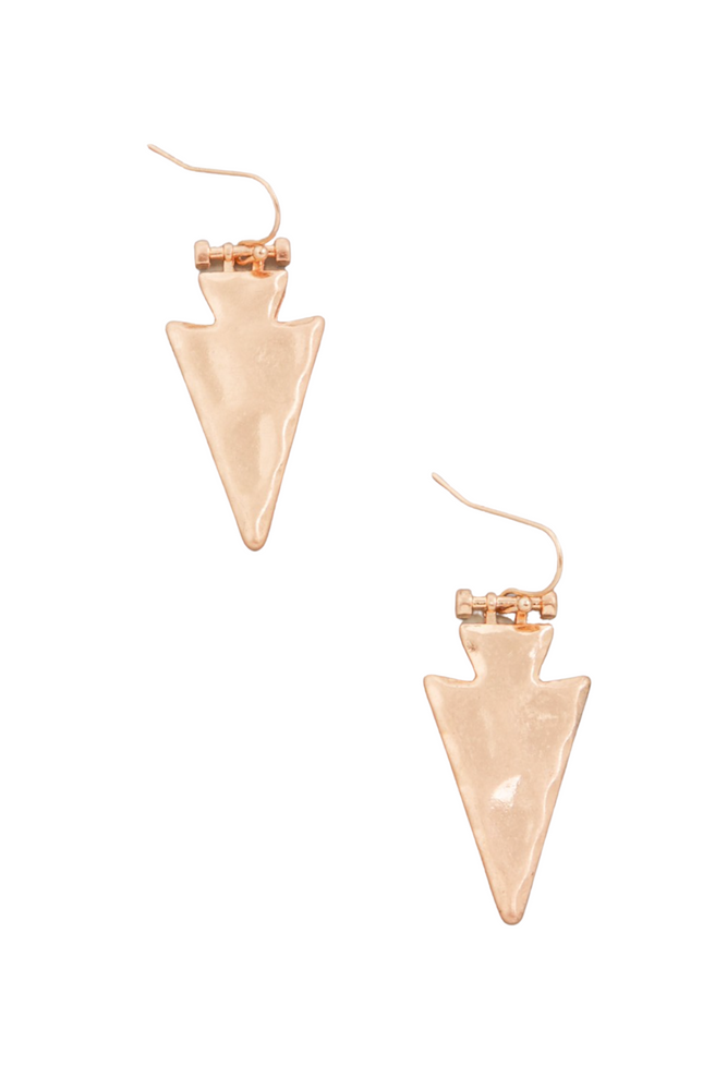 Hammered Gold Arrow Earrings