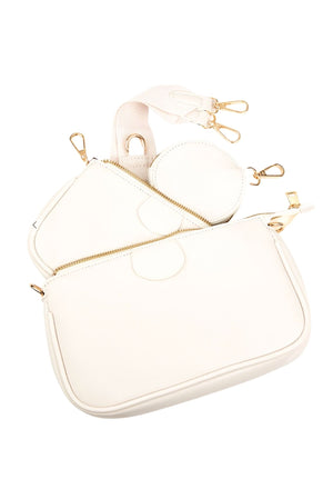 Load image into Gallery viewer, white-crossbody-pouch-purse-with-insert-designer-dupe-handbag-affordable-accessories-shop-style-your-senses-by-mallory-fitzsimmons
