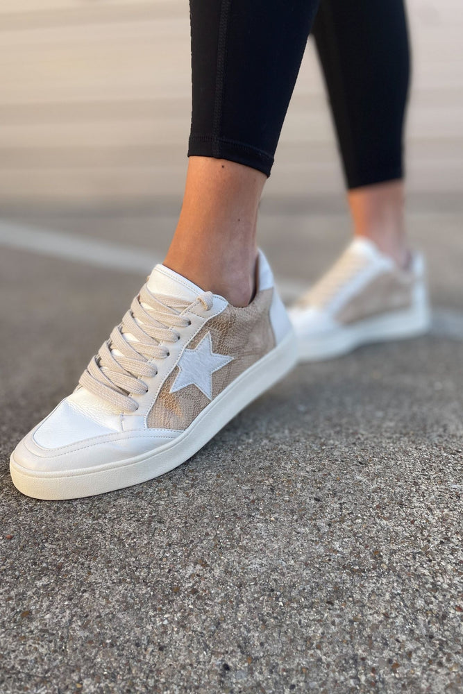 camel scale print star sneakers, workout wear, affordable athleisure, stylish sneakers, shop style your senses by mallory fitzsimmons