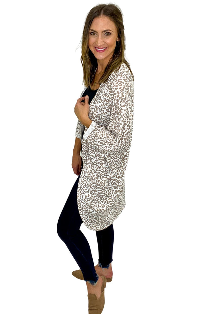 Animal Print Dolman Cardigan