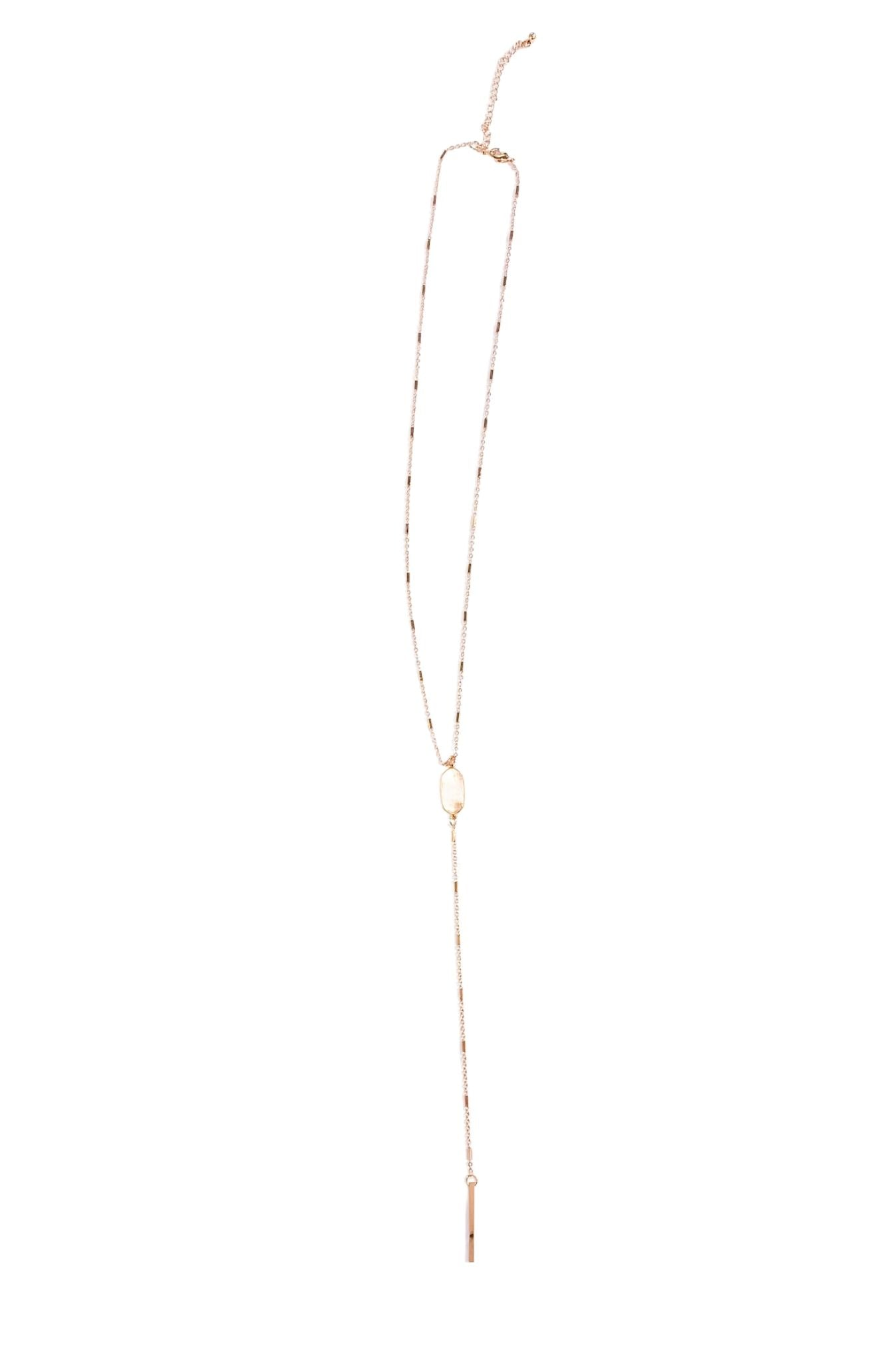 Brushed Gold Delicate Pendant Necklace