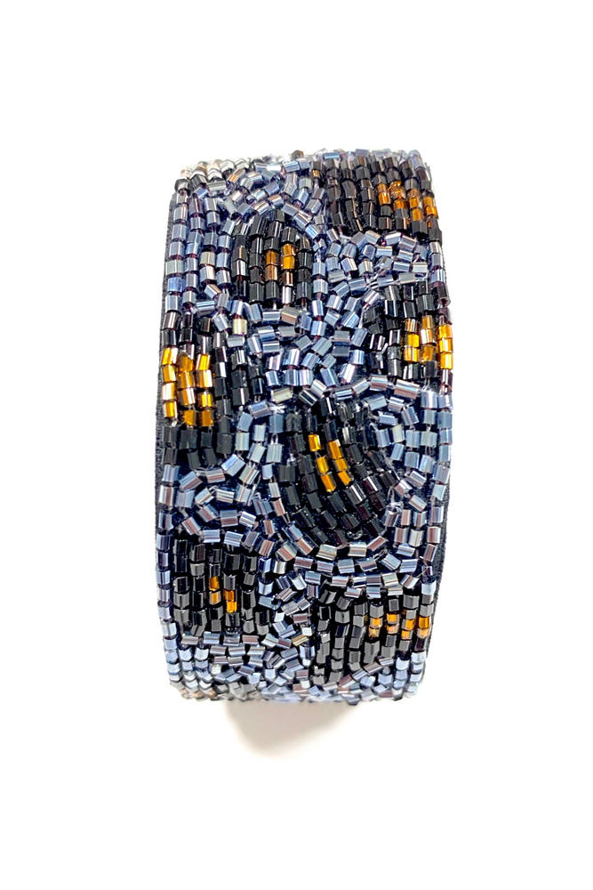 Load image into Gallery viewer, Animal Print Beaded Wrap Bracelet