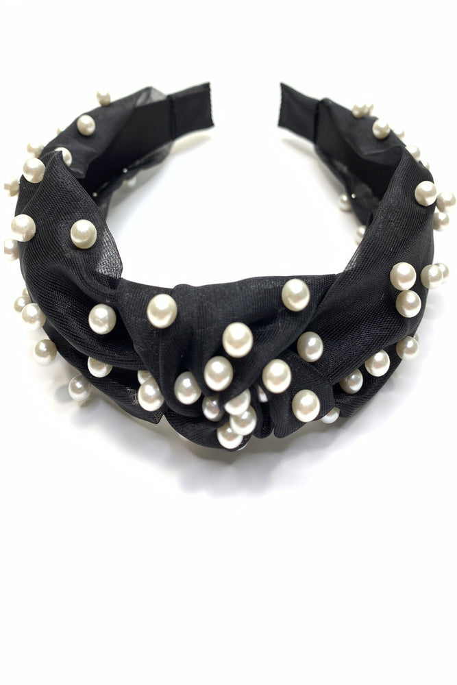 Black Turban Knot Headband