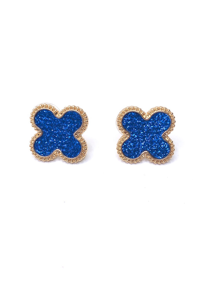 University of Florida, Kansas, Kentucky, West Virginia, WVU, Auburn, University of Mississippi, Ole Miss, Michigan, Penn State, UCLA, Rice, Penn, Yale, Duke, Notre Dame, Clemson, SMU, Southern Methodist, SEC, BIg 12, Big Ten, style your senses, game day earrings, blue game day earrings, game day accessories, blue game day earrings, blue earrings, blue stud earrings, tailgate earrings