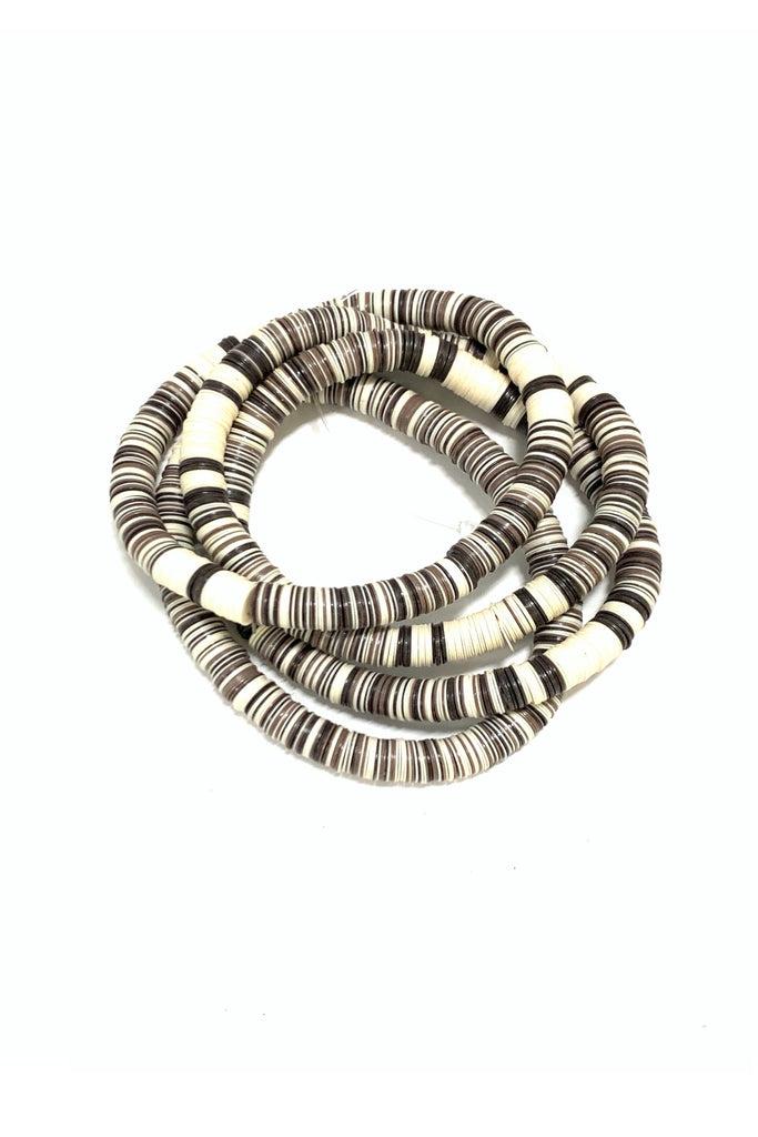Brown and Cream Striped Bracelet Set