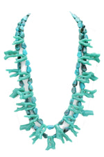 Turquoise Coral Shaped Double Layer Necklace