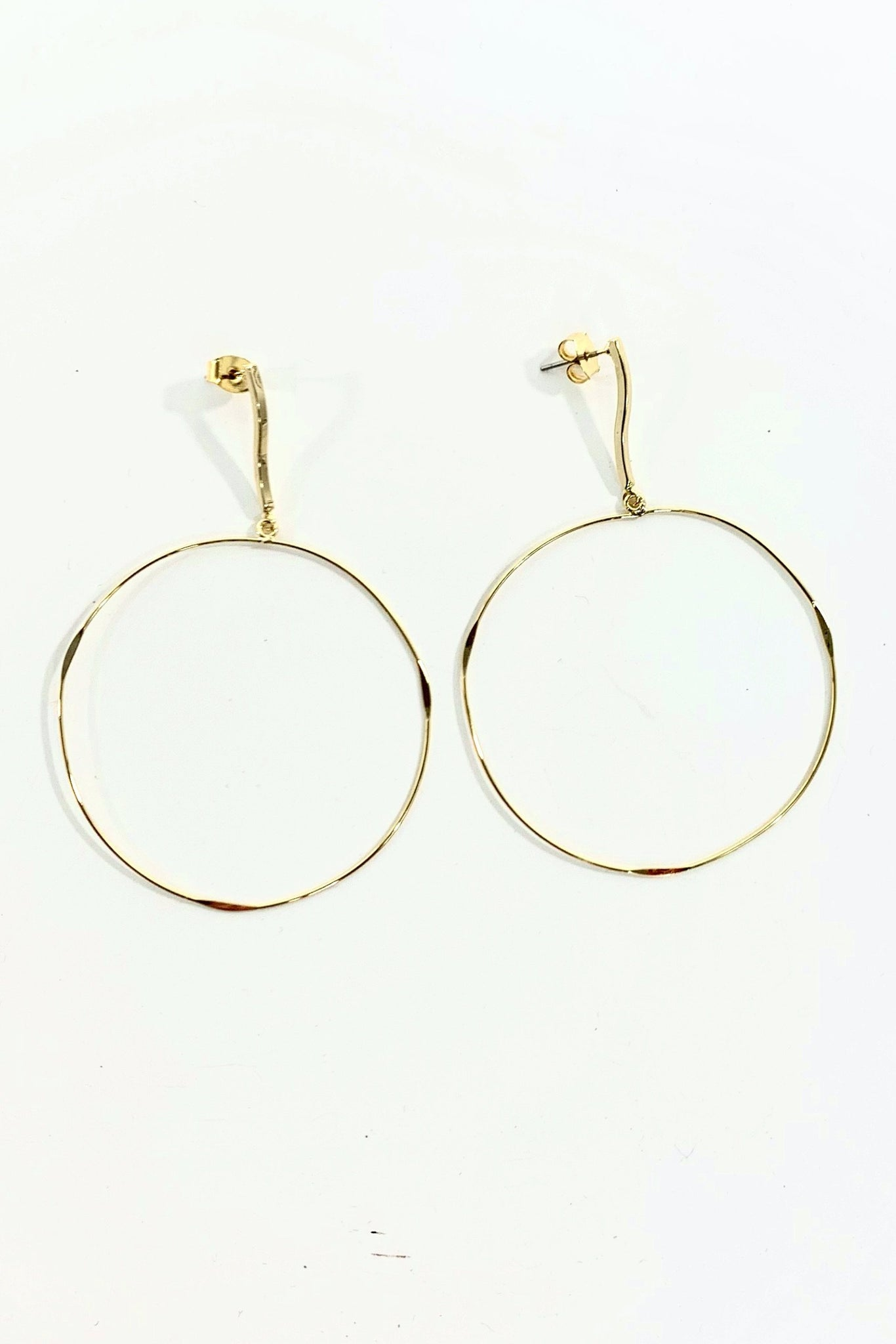 Gold Circle Dangle Earring