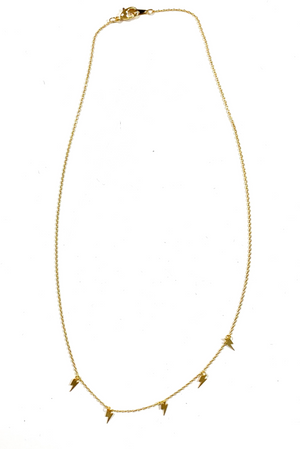 Delicate Lightning Bolt Necklace