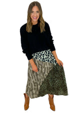 Mixed Animal Print Maxi Skirt *FINAL SALE*
