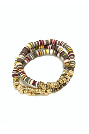 Neutral Multi Color Bracelet Set