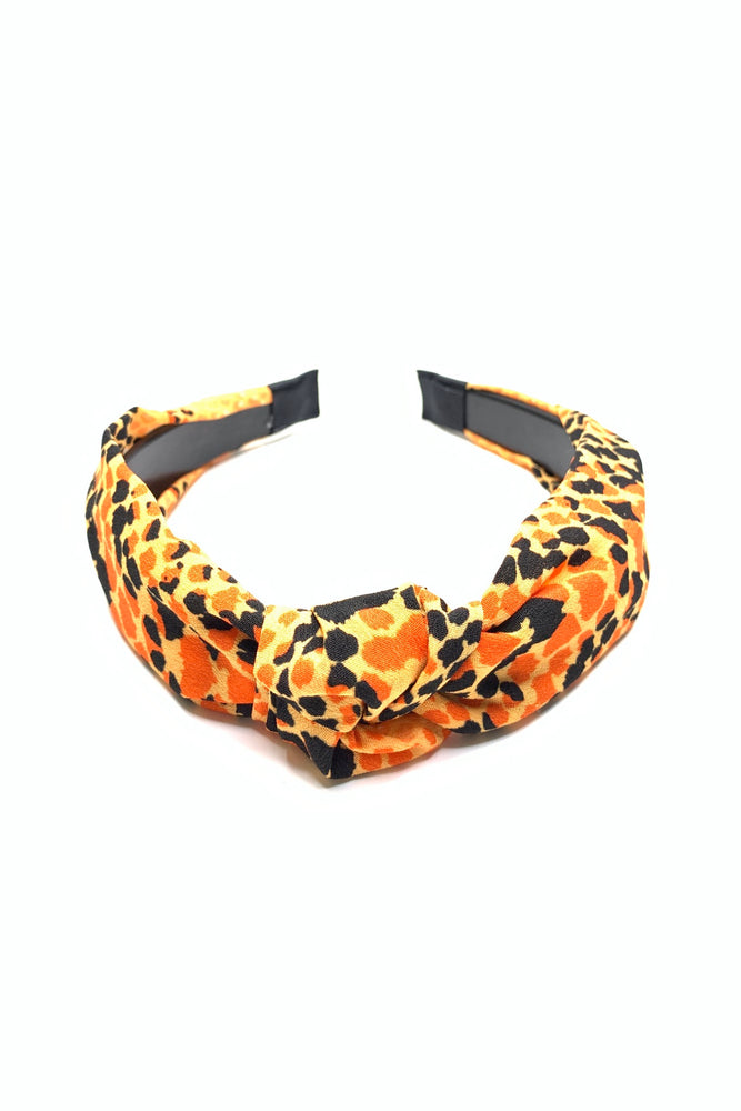 Orange Snakeskin Headband