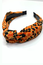 game day headband, gameday headband, orange headband, gameday accessories, game day accessories, snakeskin headband, orange snakeskin, orange snakeskin headband