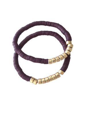 Purple Bracelet Set