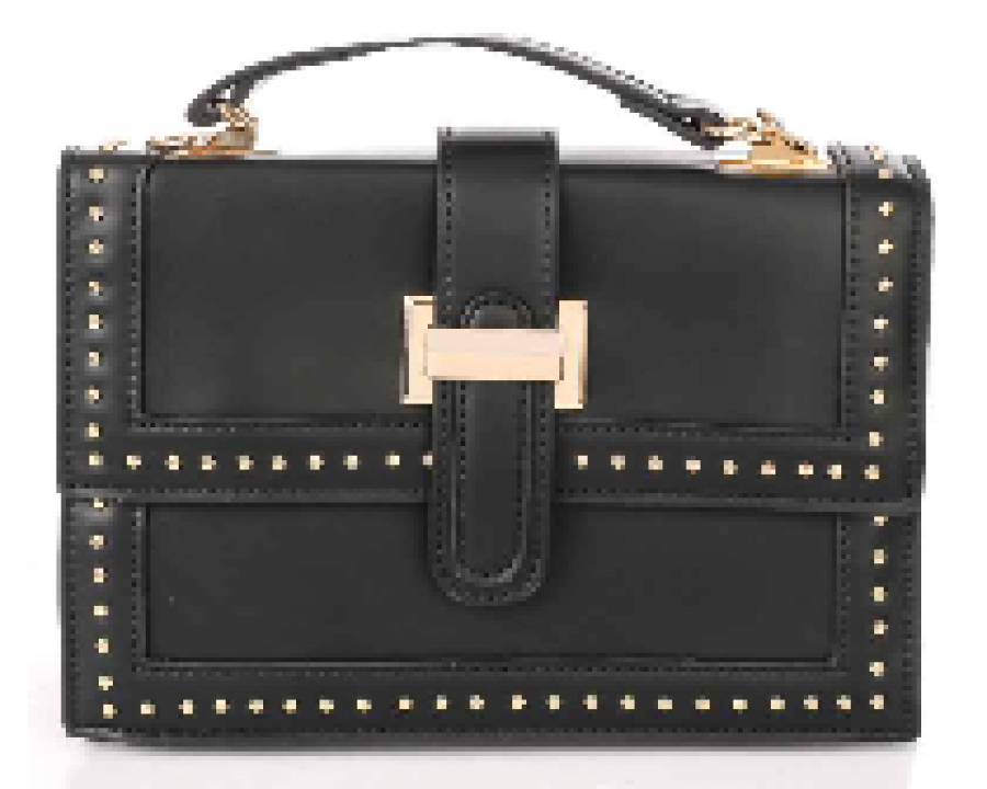 Black purse w/ Gold Clasp