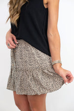 polka dot skirt, tiered skirt, leopard skirt, flirty skirt, short skirt, style your senses
