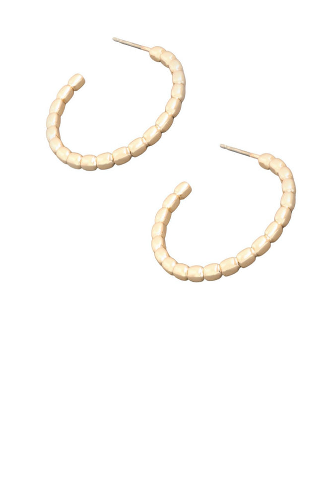 Small Gold Ball Hoop Earrings
