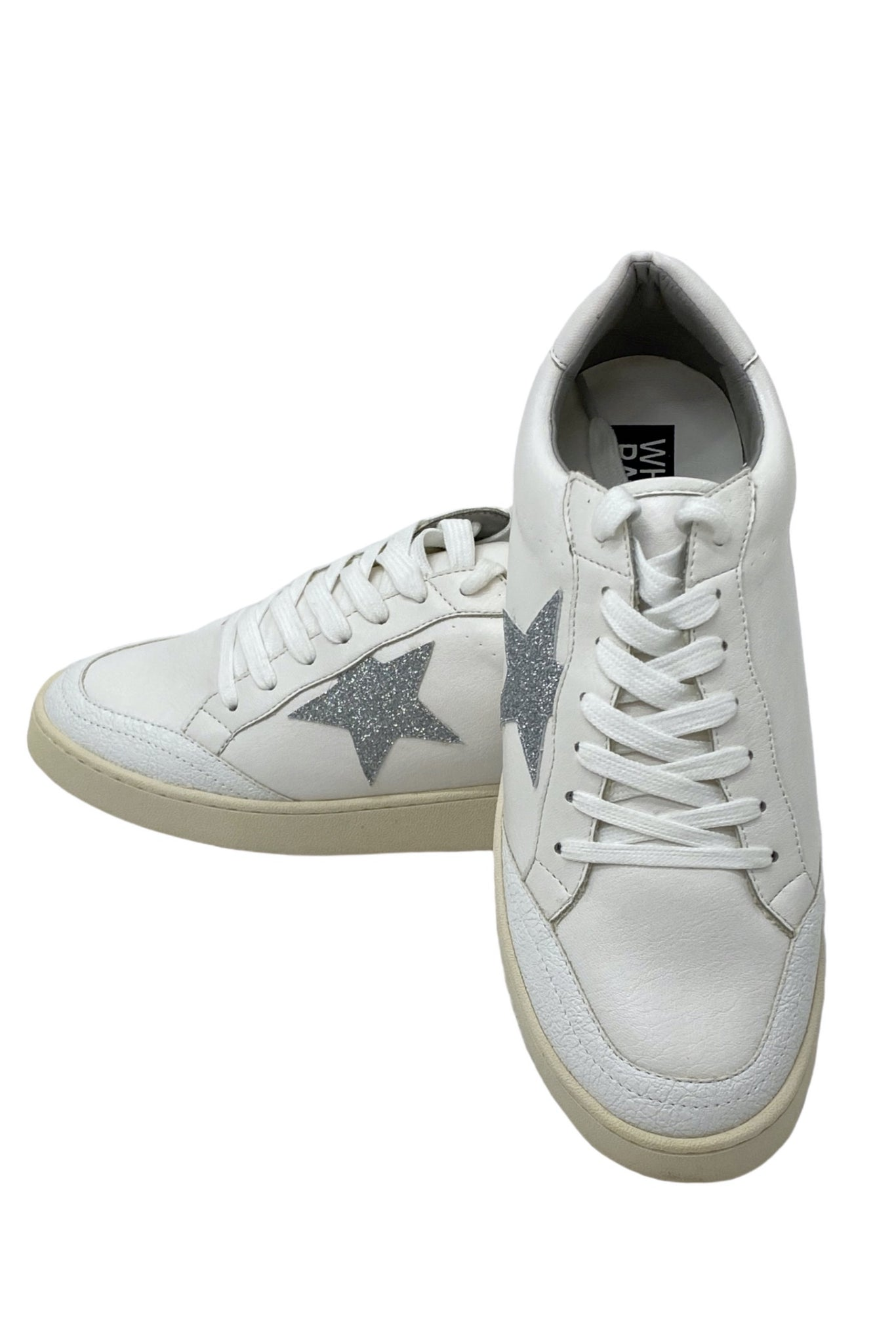 White Platform Sneakers w/ Star