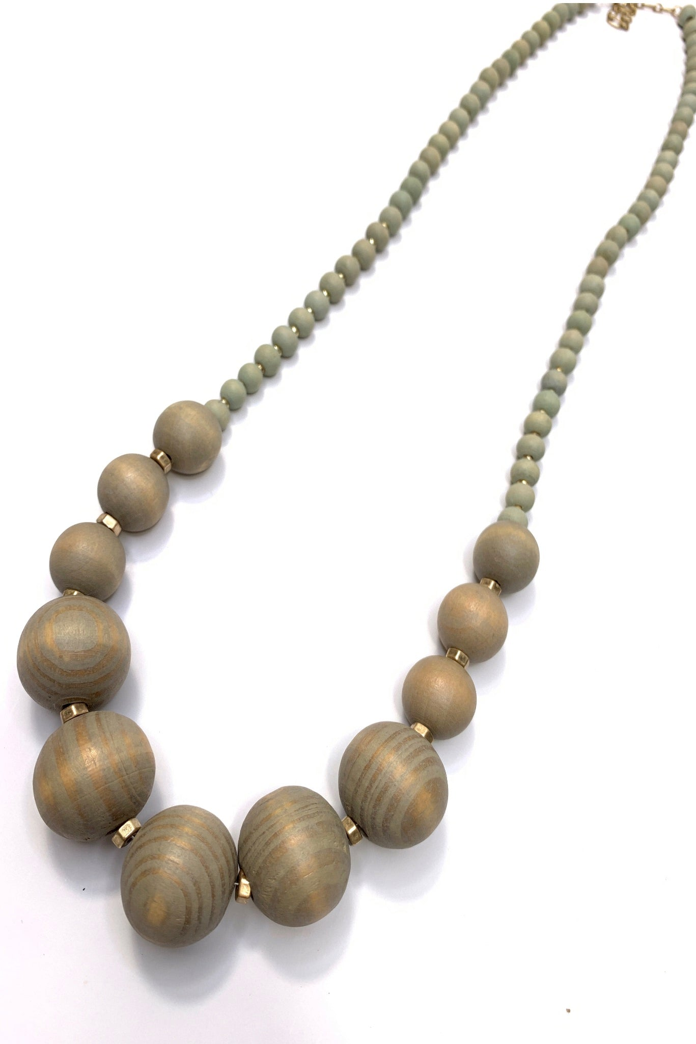 Wooden Round Beaded Necklace
