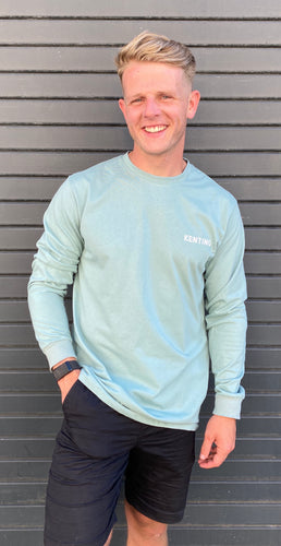PASTEL GREEN LONG SLEEVE T-SHIRT