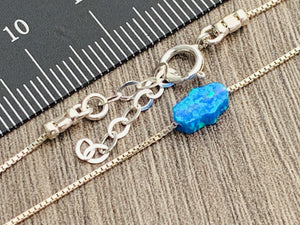 Opal Hamsa Bracelet on Sterling Silver or 14kt Gold Filled Chain