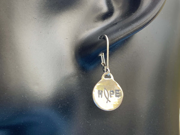 Sterling Silver Hope Earrings