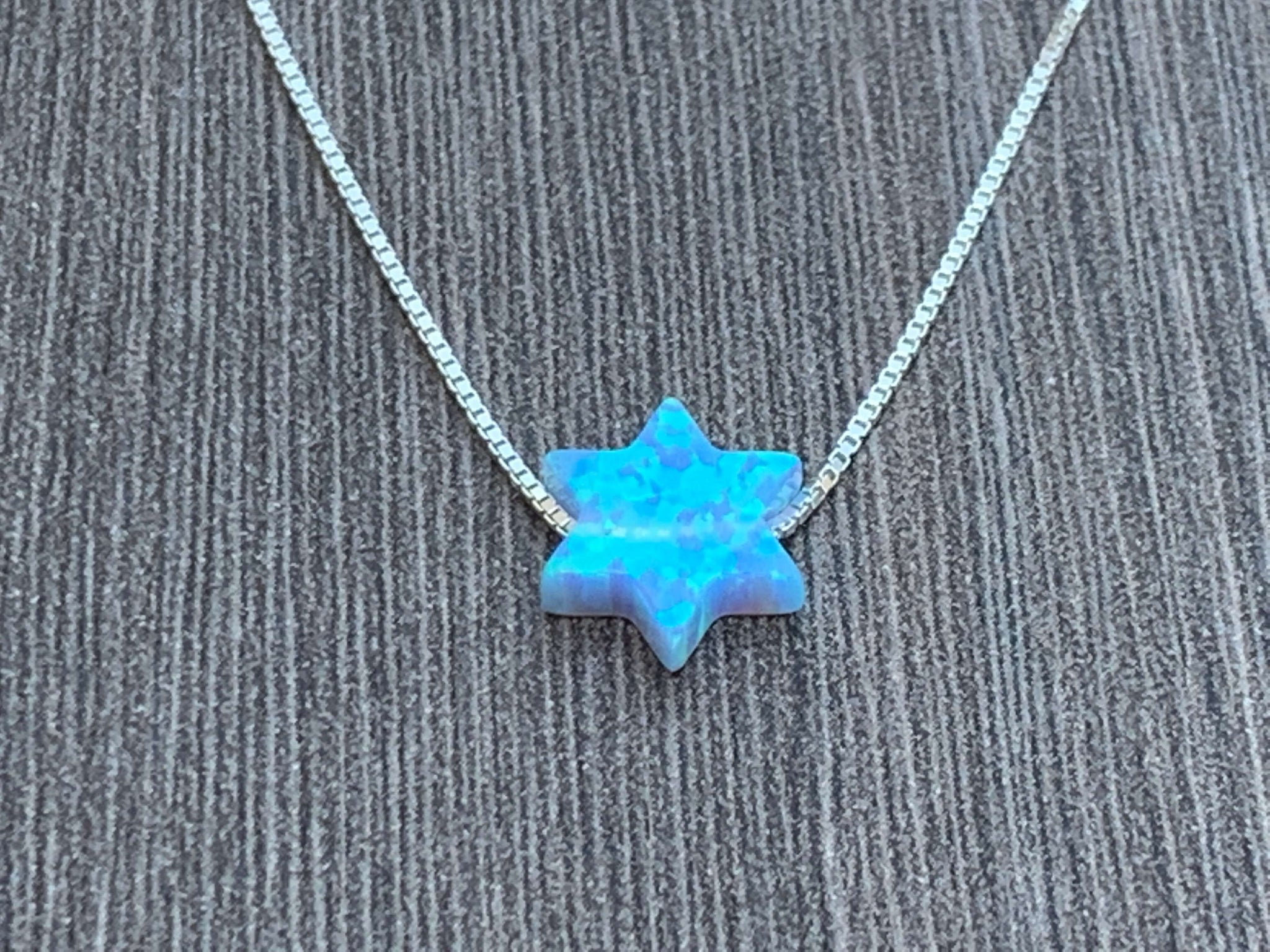 Opal Star of David Sterling Silver or 14kt Gold Filled Necklace