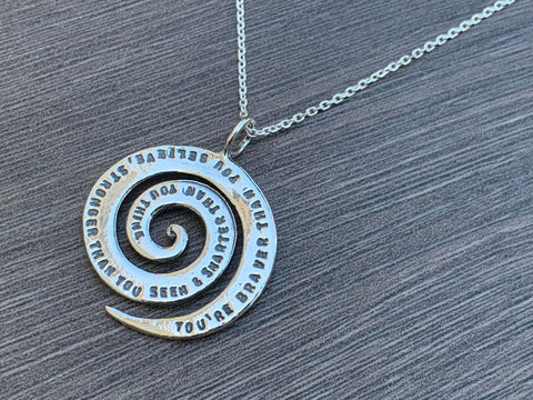 Inspirational Daughter Sterling Silver Necklace