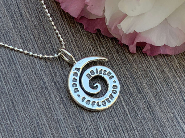 TEACH INFLUENCE INSPIRE - Sterling Silver Necklace