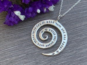 Shoot for the Moon - Sterling Silver Necklace