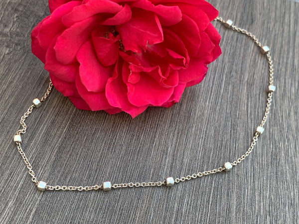 Sterling Silver Beaded Chocker Necklace