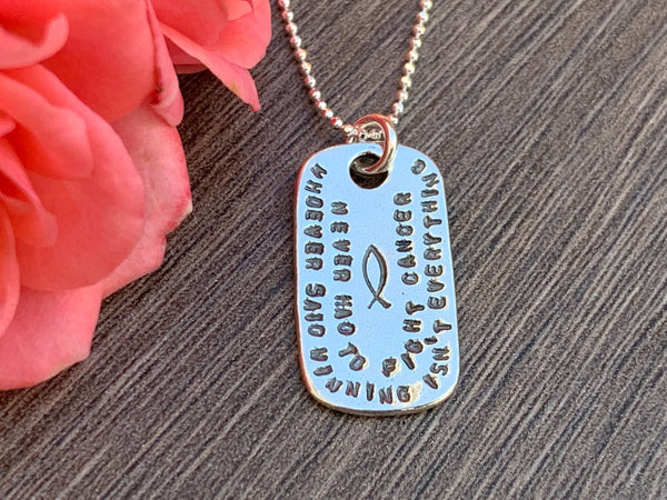 Sterling Silver Cancer Awareness Necklace