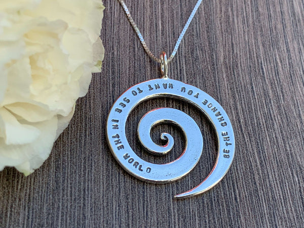 Inspirational Sterling Silver Necklace