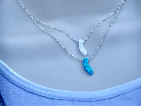 California Opal Sterling Silver Necklace