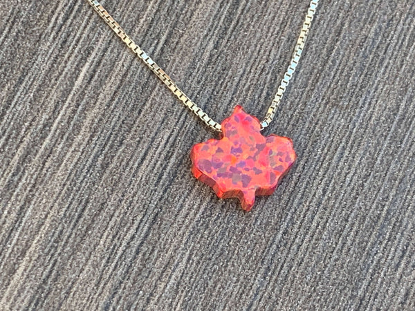 Maple Leaf Opal Necklace - Sterling Silver or 14kt Gold Filled