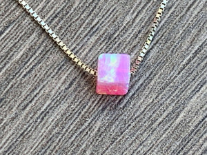 Breast Awareness - Nothing but PINK - Opal Charms - Sterling Silver or 14kt Gold Filled