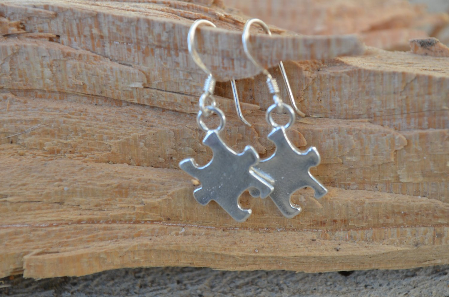 Autism Awareness Earrings -Sterling Silver- Support Autism