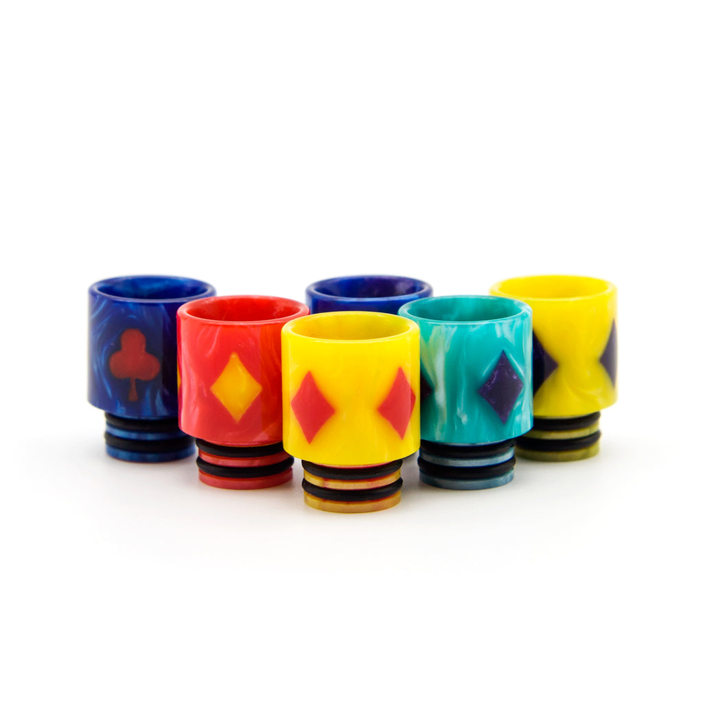 resin drip tips playing cards pattern