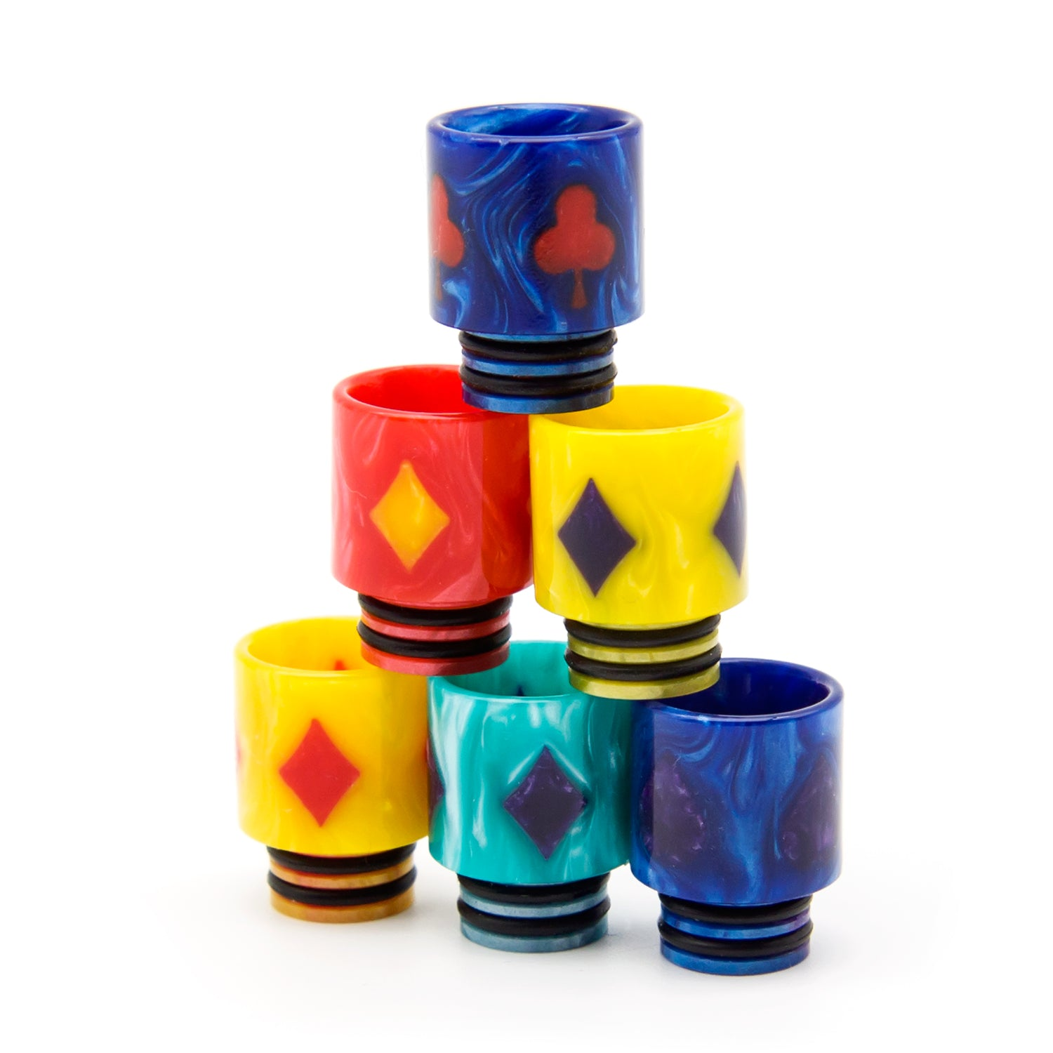510 playing cards pattern drip tips