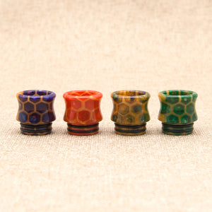 wide bore cobra snake skin resin drip tip