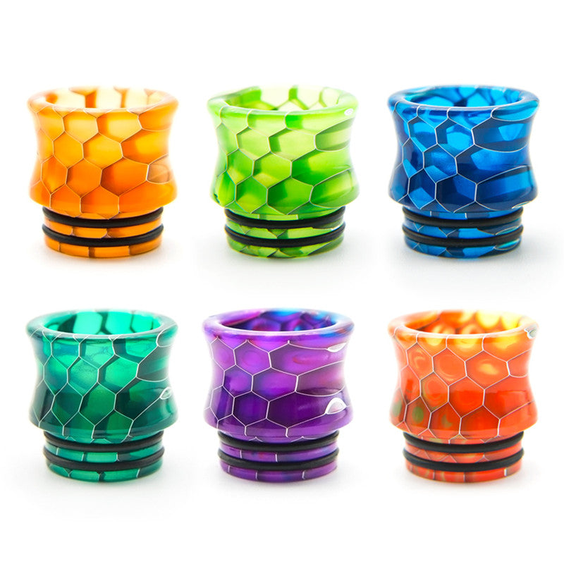wide bore cobra 810 resin honeycomb drip tips