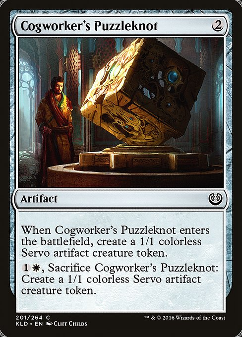 Cogworker's Puzzleknot [Kaladesh] | Game Theory