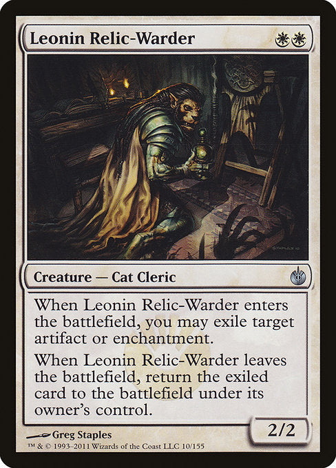 Leonin Relic-Warder [Mirrodin Besieged] | Game Theory