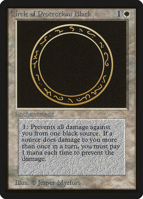 Circle of Protection: Black [Limited Edition Beta] | Game Theory
