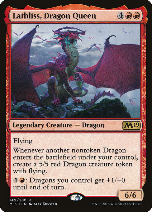Lathliss, Dragon Queen [Core Set 2019] | Game Theory