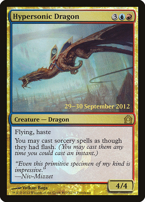 Hypersonic Dragon [Return to Ravnica Promos] | Game Theory