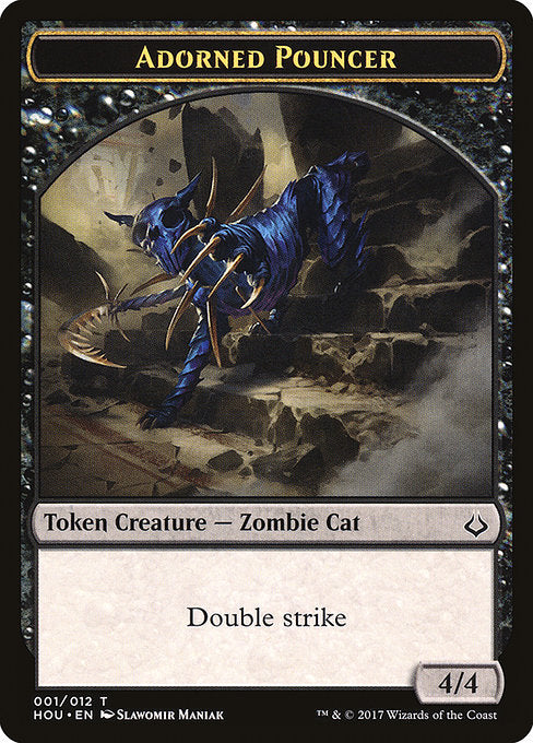 Adorned Pouncer Token [Hour of Devastation Tokens] | Game Theory