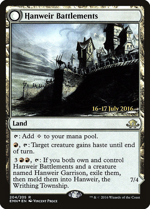 Hanweir Battlements [Eldritch Moon Promos] | Game Theory